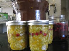 Fermented cranberries with fermented squash kraut