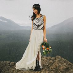 A stunningly beautiful elopement in the woods from Benj Haisch - and a gorgeous free people wedding dress!