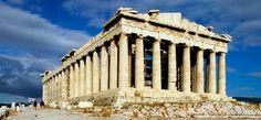 El partenón, construido por Ictino, Calícrates y Fidias.
