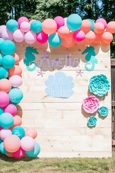 4th Birthday Parties, 1st Birthday Girls, Birthday Cake, Swim Party Decorations, Mermaid Theme Birthday, Donut Party, Farm Party, Valentines Day Party, Backdrops For Parties