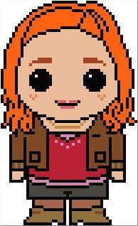 Doctor Who: Amy Pond PDF Chart Cross Stitch Pattern
