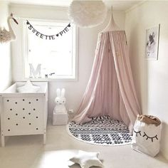 """Top diameter is 23"""" and falls to a length of 95"""" Material: 100% Cotton With Metal Ring Frame Colors: Gray, Creme, Light Pink, or White 2-4 WEEK DELIVERY"""