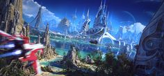 Dominius V. My interpretation of the futuristic utopian city. Named after my kid, Dominik. Here is also a 4k version is somebody is interested:interstation3d.com/portfolio/d…