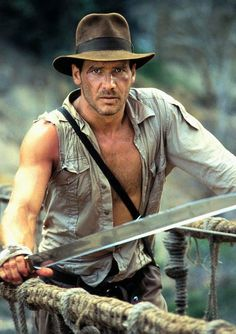 Film: Indiana Jones. What a hero! I love the intellectual types who hide a sword under their suit.
