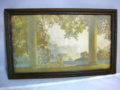 Vintage Maxfield Parrish Print in Original Frame by Reinthal & Newman NY Small #ArtDeco