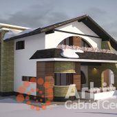 Casa cu etaj 54 | Proiecte de case personalizate | Arhitect Gabriel Georgescu & Echipa Modern House Facades, Luxury House Plans, Facade House, Design Case, Gazebo, Buildings, Outdoor Structures, House Design, How To Plan