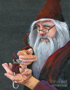 The Wizards Apprentice Painting  - The Wizards Apprentice Fine Art Print  J W Baker