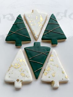 Whipped Bakeshop's decorated modern trees cookie collection! Inquire today at … Whipped Bakeshop's decorated modern trees cookie collection! Christmas Sugar Cookies, Christmas Sweets, Noel Christmas, Christmas Goodies, Holiday Cookies, Holiday Treats, Holiday Fun, Festive, Christmas Tree Cookies