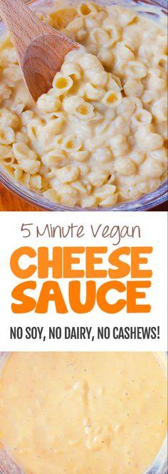 Vegan Cheese Recipes, Vegan Cheese Sauce, Vegan Mac And Cheese, Healthy Recipes, Vegan Foods, Vegan Dishes, Dairy Free Recipes, Vegan Vegetarian, Whole Food Recipes