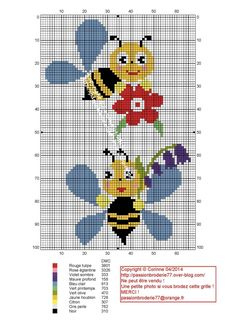This Pin was discovered by Tam Small Cross Stitch, Cross Stitch For Kids, Butterfly Cross Stitch, Cross Stitch Bird, Cross Stitch Animals, Cross Stitch Designs, Cross Stitching, Cross Stitch Patterns, Bee Embroidery