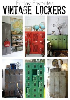 Beautiful industrial locker inspiration! - LITTLE HOUSE OF FOUR