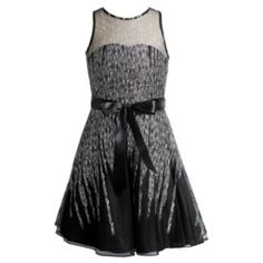 Emily West Girls 7-16 Glitter Mesh Dress