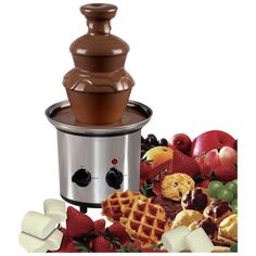 Chocolate Fondue Fountain ideas - marshmallows, strawberries, waffles ...