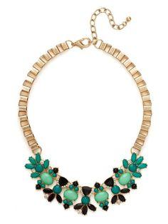 Teal Ariel Wreath Necklace