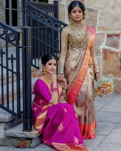 Looking to shop your bridal wear in Toronto? Then you have to check out this complete list of Toronto Lehenga Shopping brands. I've mentioned prices too! South Indian Wedding Saree, Indian Bridal Sarees, South Indian Bride, Bridal Lehenga, Saree Wedding, Indian Weddings, Blouse Designs Silk, Bridal Blouse Designs, Lehenga Blouse
