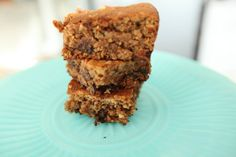 Garbanzo bean Blondies; Chickpeas, oats' chocolate chips, flaxseeds, almond butter.  Interesting!!!