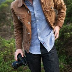 Tapiture: Gustin Waxed Brown Trucker Jacket by iratecustomer