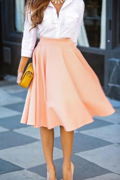 So much movement in this midi skirt. Love it!