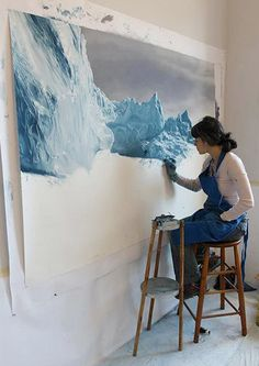 Iceberg Finger Paintings by Zaria Forman