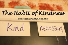 Let me say when you stop and apply just these two little words to your home and life it will really make a difference. You will begin to rea...