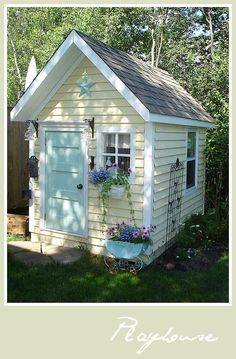 Little playhouse cottage. #gardenplayhouse