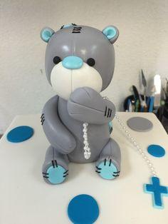 Fondant Patch work Teddy Bear cake topper ❤️