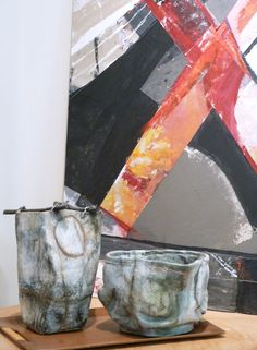 ceramic sculpture and collage by Brenda Holzke