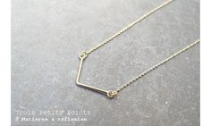 Trois Petits Points collier s.Arrow fil #troispetitspoints #frenchfashion #collier #necklace #ultrafin #madeinfrance