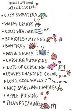 I Love and do all these activities, especially baking apple and pumpkin goods and drinking Starbucks' pumpkin spice latte. I love every thing about Autumn Except Maybe the cold weather