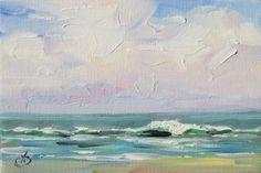 SEA SCAPE PLEIN AIR ORIGINAL OIL PAINTING by TOM BROWN, painting by artist Tom Brown