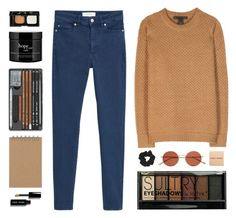 """""""Spring Chill"""" by amazing-abby ❤ liked on Polyvore featuring MANGO, Marc by Marc Jacobs, Boohoo, NARS Cosmetics, philosophy, Oliver Peoples, Bobbi Brown Cosmetics and Topshop"""