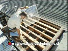 ¿Cómo instalar una cúpula acrilica en el techo? - YouTube