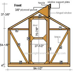 greenhouse end wall frames