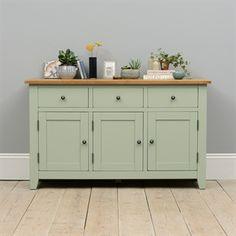 Kitchen Sideboard, Sideboard Decor, Painted Sideboard, Large Sideboard, Credenza, Green Furniture, Dining Room Furniture, Home Furniture, Rustic Furniture