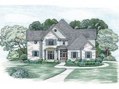 English Tudor House Plan Front of Home 026D-0243  from houseplansandmore.com