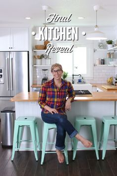 Modern Farm Kitchen Remodel--Includes resources for products. And before and after pictures!