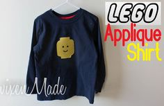 applique a lego face on to a shirt -- nice idea for a gift for an older boy