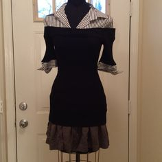Dressbarn part shirt part sweater In excellent condition  a nice addition to any top. Dress Barn Tops