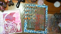 Gelli Plate instruction and samples. Printmaking Ideas, Gelli Plate Printing, Gelli Arts, Paper Flower Tutorial, Plate Art, Encaustic Art, Art Plastique, Fabric Painting, Art Journals