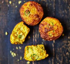 These bread rolls are full of strong cheddar and pop with jalapeños. They make a tasty veggie side and you can make a batch to freeze for later