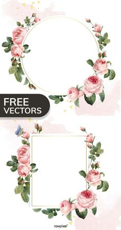 Wedding Logo Design, Wedding Logos, Wedding Invitations, Flower Background Wallpaper, Flower Backgrounds, Rose Frame, Flower Frame, Pink And White Background, Photos Booth