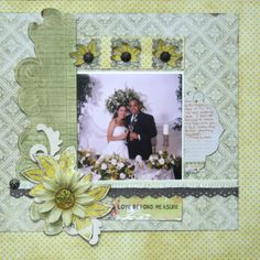 It Is Summer Everyday Wedding Scrapbook Layout