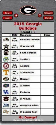 2015 Georgia Bulldogs football schedule