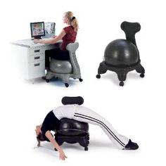 I want one of these ...  Health and Fitness Balance Fit Chair