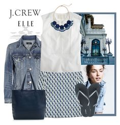 """J.CREW"" by bodangela ❤ liked on Polyvore featuring J.Crew, Thomas Mason and whit"