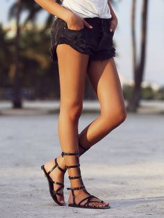faryl robin + Free People Vegan Noveau Mid Gladiator Sandals at Free People Clothing Boutique