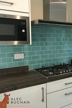 The aqua blue tiles you've been searching for! Alec Buchan - Glass tiles in the colours you love.