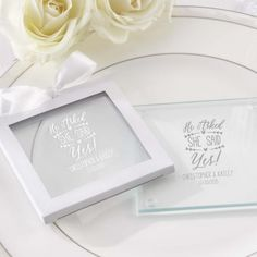 Personalized Glass Coasters by Beau-coup