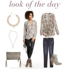 A fashion look from October 2015 featuring Calypso St. Barth blouses, AG Adriano Goldschmied jeans and HOWSTY ankle booties. Browse and shop related looks.