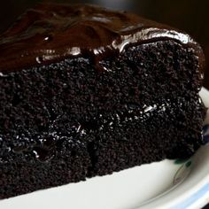 Dark Chocolate Fudge Cake Recipe from Grandmothers Kitchen.